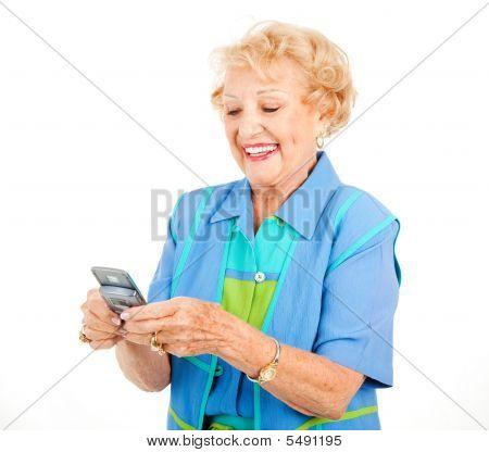 Senior Woman - Texting Fun