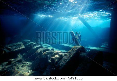 Engine Room Of A Shipwreck