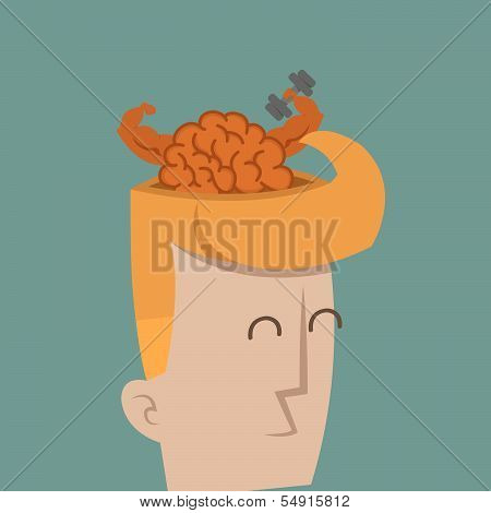 Businessman brain power