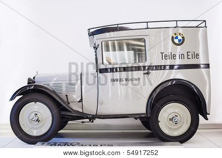 Munich -germany, June 17: Bmw 3/15 Ps Car Produced By Bmw Shown In Bmw Museum On June 17, 2012 In Mu