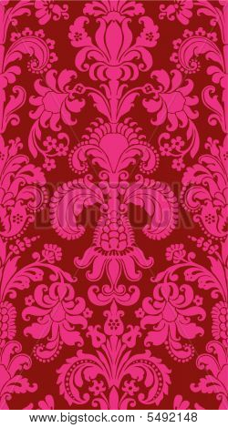 Seamless rough vector background from a flower ornament modern wallpaper or textile poster