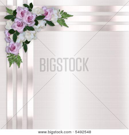 Roses And Satin Ribbons Floral Border