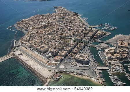 ortigia island from above