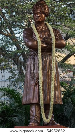 Close-up Of Swami Vivekananda Statue In Bangalore.