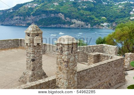 Interior Details Of The Aragonese Castle, Ischia Island