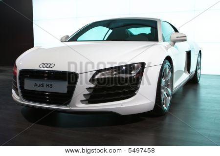 Moscow, Russia - 28 August, 2008: Audi R8 At Moscow International Exhibition Motorshow 2008, Moscow,