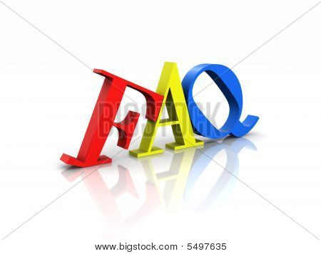 Faq Colorful Frequently Asked Questions