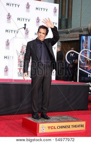 LOS ANGELES - DEC 3:  Ben Stiller at the Ben Stiller Handprint and Footprint Ceremony at Dolby Theater on December 3, 2013 in Los Angeles, CA