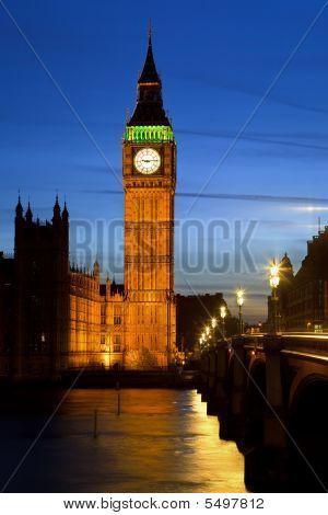 Big Ben in London at night UK 2009