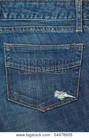 Jeans background. Back Pocket of Jeans . poster