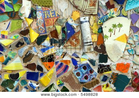 Original Colorful Mosaic On A Wall