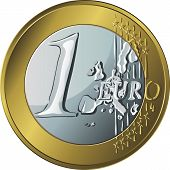 gold and silver money gold coin euro poster