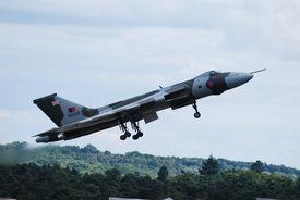 Vulcan Bomber On Take Off