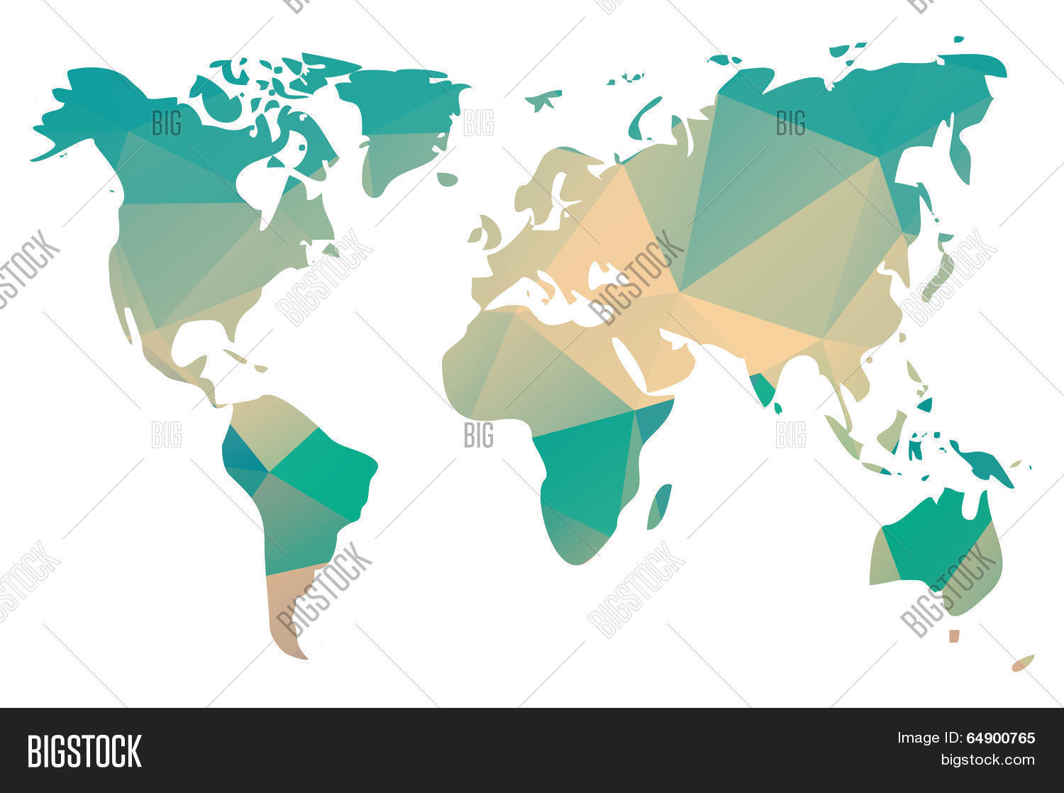 Vector y foto world map triangle geometric bigstock world map in triangle geometric pattern design vector illustration gumiabroncs Gallery