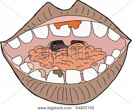 Mouth With Food
