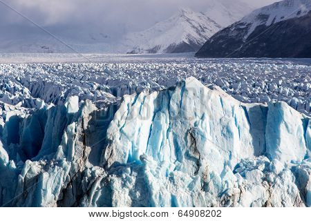 Glacier in the Perito Moreno National Park, El Calafate, Argentina