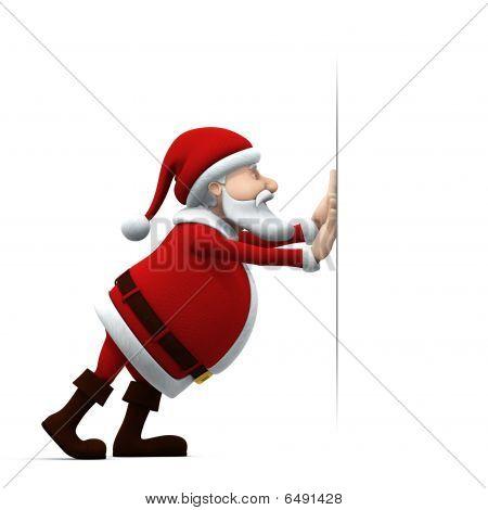 Santa Pushing