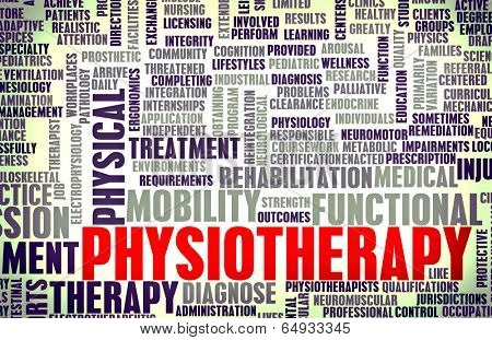 Physiotherapy as a Medical Career Concept Art poster