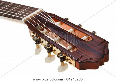Tuning Keys Of Classical Guitar Close Up