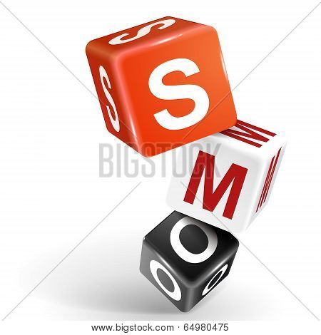 3D Dice Illustration With Word Smo