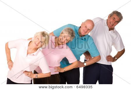 Group Of Mature People Stretching