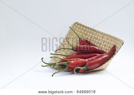 Red Chilli Peppers in a Basket