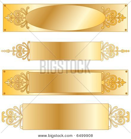 Fancy Gold Nameplate