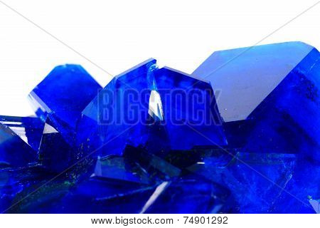 blue vitriol mineral isolated on the white background poster