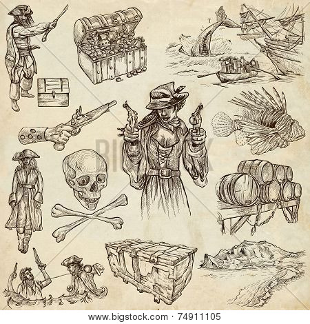 Pirates - Old Paper Set
