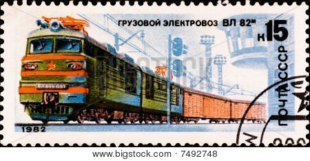 Postage Stamp Shows Russian Train