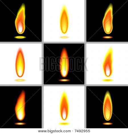 Flames Set Orange