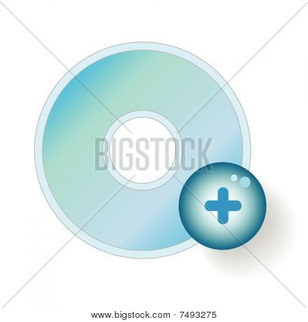 compact disc remove icon
