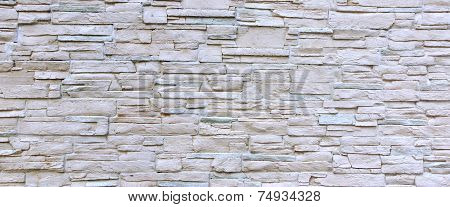 White Artificial Stone Wall. Background and Texture for text or image. poster
