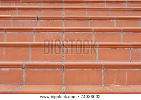 Terracotta Stairs with Calcium Silt. Background and Texture for text or image poster