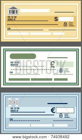 Vector Bank Check Set
