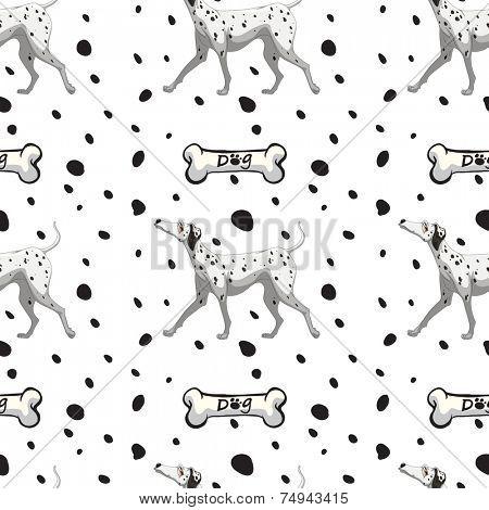 illustration of a seamless dog and bone