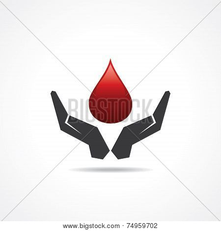 save blood concept stock vector