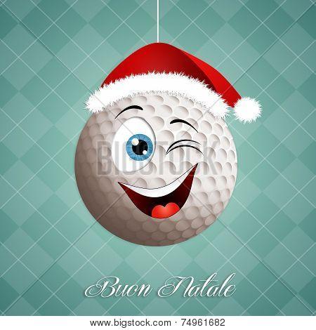Funny Golf Ball For Christmas