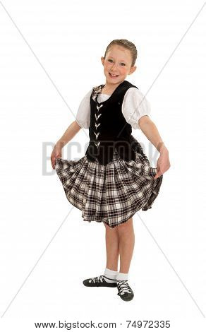 Happy Irish Dancer Girl