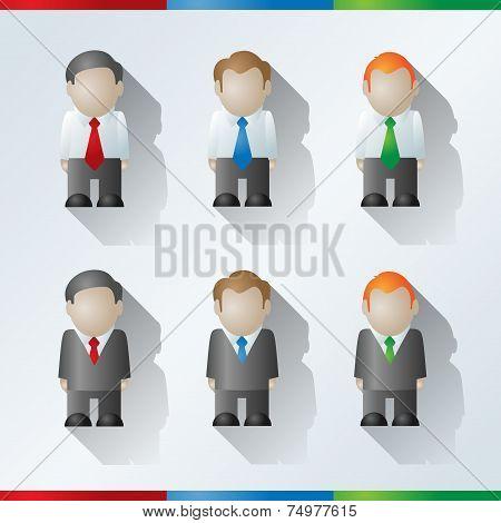 Vector Cartoon Businessmen