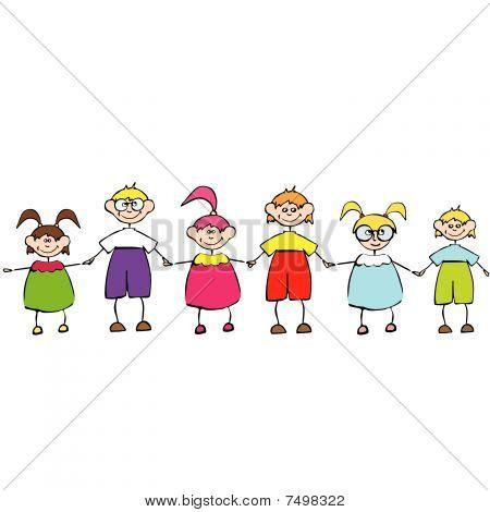 Happy lächelnd Kinder Gruppe für Sie.