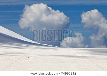 Cloud Over The Snowy Mountain