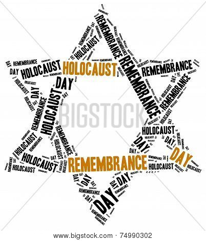 Holocaust remembrance day. Word cloud illustration.
