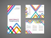 abstract colorful triangle pattern background tri fold brochure template poster