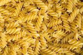 delicious food background of yellow pasta closeup poster