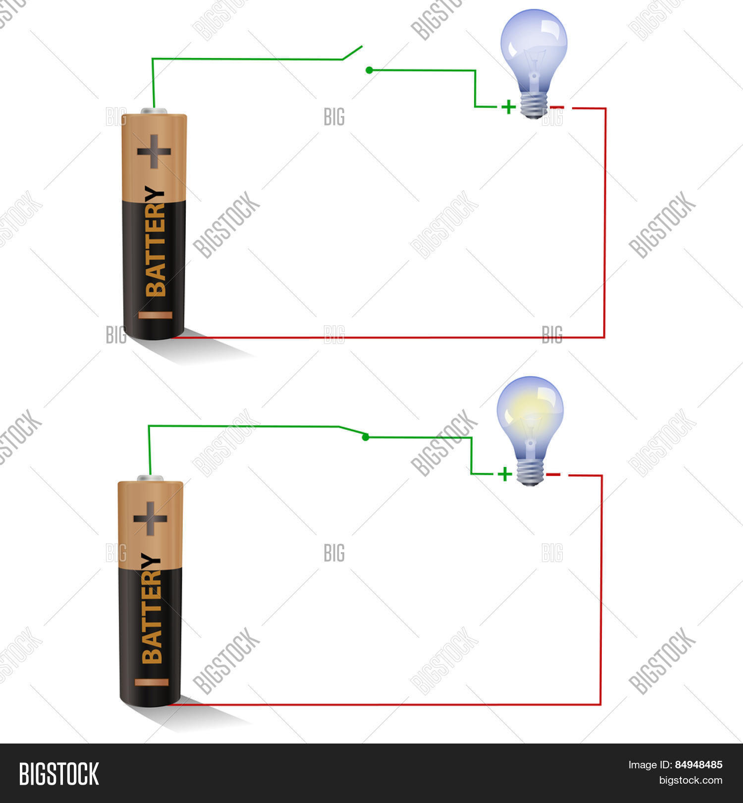 Electric Circuit Image Photo Free Trial Bigstock Parallel And Series With Lightbulbs Battery Showing Open Closed Switches Using A Light Bulb