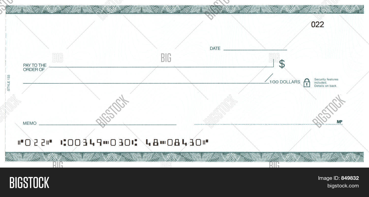 Blank check fake account image photo bigstock for Large fake check template