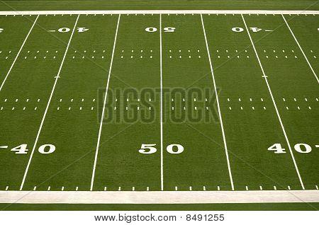 Leere American-Football-Feld