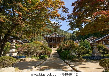 Yeongju, Korea - October 15, 2014: Beomjongru In Buseoksa Temple