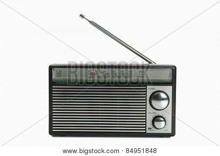 Close-up of a radio